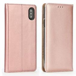 IPHOX iPhone X Wallet Case, iPhone X Leather Case Wallet Fli