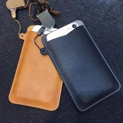 iPhone X XS Max XR 8 7 Universal Leather Wallet Slot Pouch S