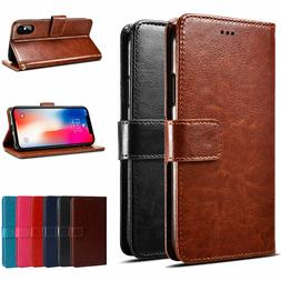 For iPhone X XS XR XS Max 8 Plus PU Leather Wallet Card Flip