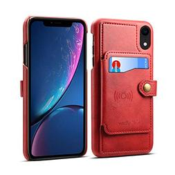 iPhone XR Case,Wetben Wallet Pu Leather Case Cover with Cred