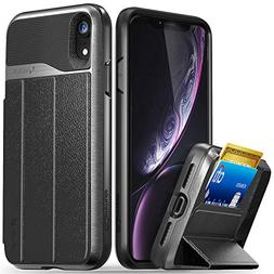 Vena iPhone XR Wallet Case,  Flip Leather Cover Card Slot Ho