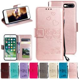 For iPhone XS Max XR X 8 Plus 7 6S Magnetic Leather Wallet F