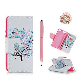 iPod 5 Case iPod Touch 6 Case, MOLLYCOOCLE Stand Wallet Purs
