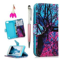 iPod Case iPod Touch 5 Case - MOLLYCOOCLE Stand Wallet Purse