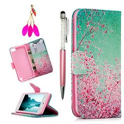 iPod Touch 5 Case, iPod Touch 6 Case, MOLLYCOOCLE Pink Cherr