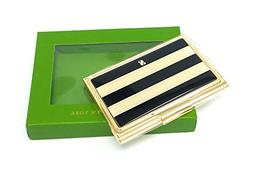 "Kate Spade Down To Business Business Card Holder""S"", Black/W"