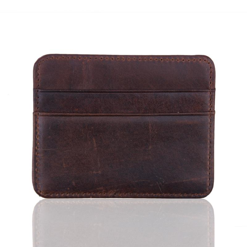 100 percent real genuine leather convenient id
