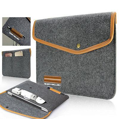 For NEWEST 12inch Macbook Wallet Case Sleeve Bag Travel Carr