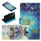 2018 Magnet 3D Painted Flip PU Leather Stand Case Wallet Cov