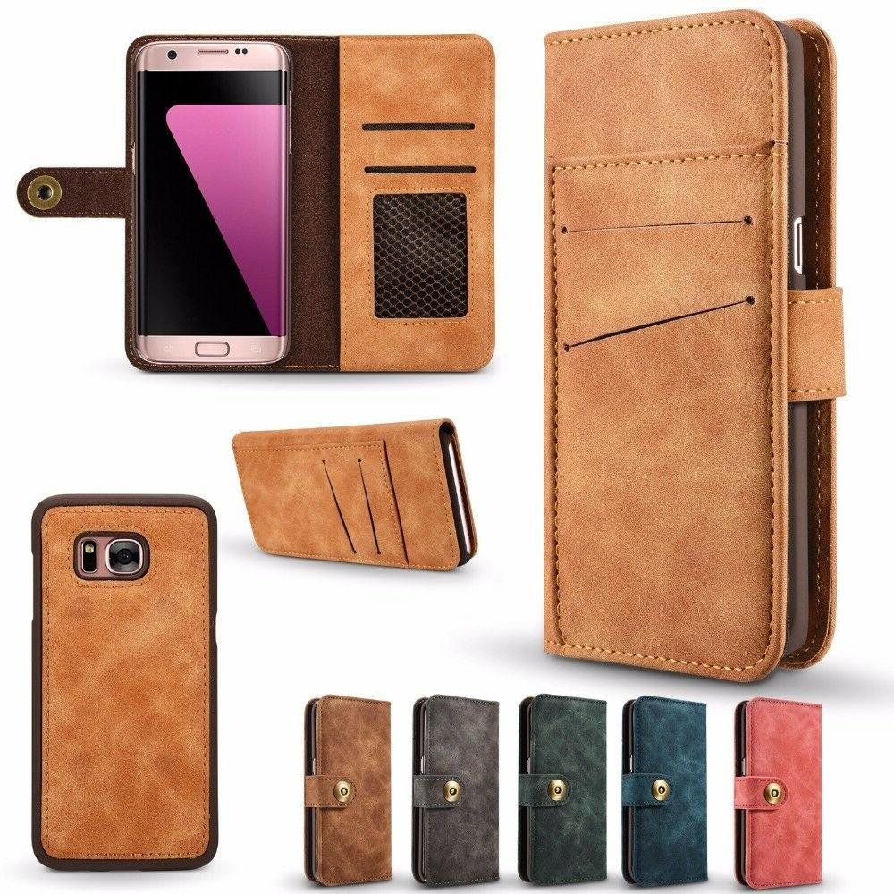 2in1 Detachable Wallet Case For Galaxy Edge Flip Leather Cover