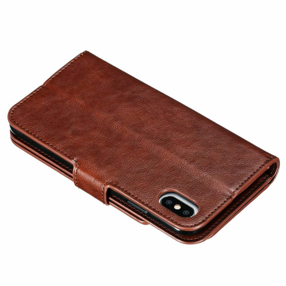 9 Card Slots Wallet Flip Leather For XR X 8 7 6s