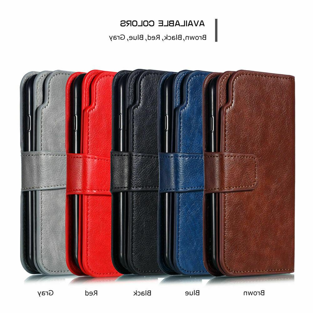 9 Card Slots Flip Leather Case Cover For iPhone XR 6s 6 Plus