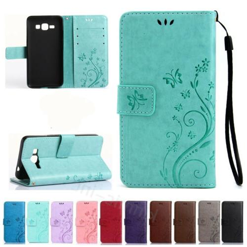 Butterfly Pattern PU Leather Wallet Card Stand Case Flip Cov