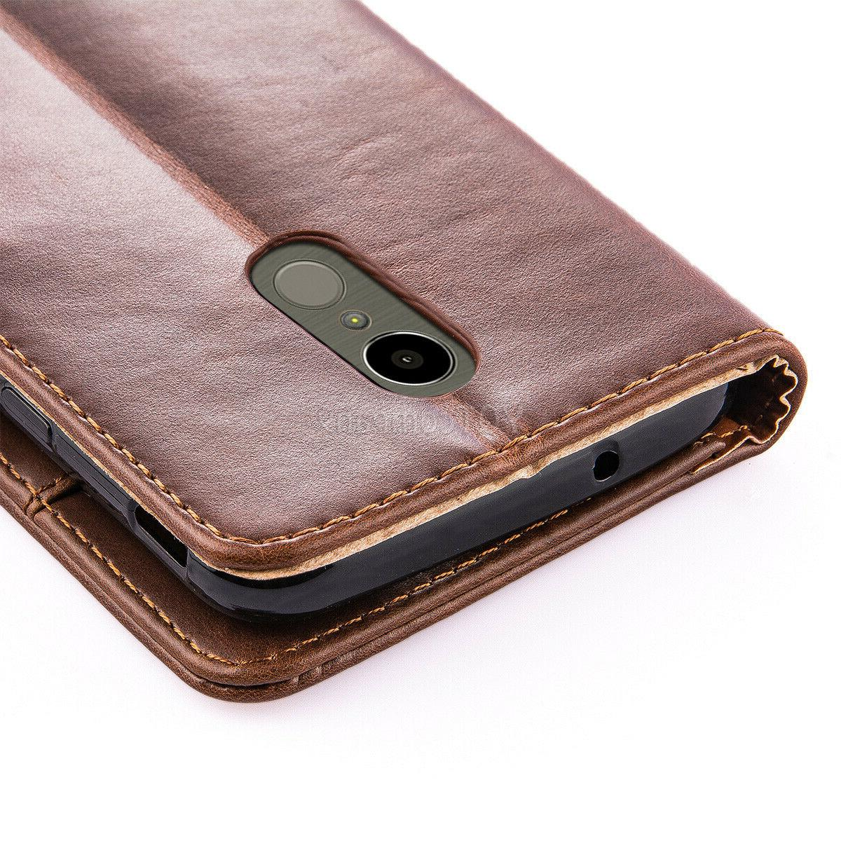 For 4 Leather Wallet Flip Protective Cover Glass