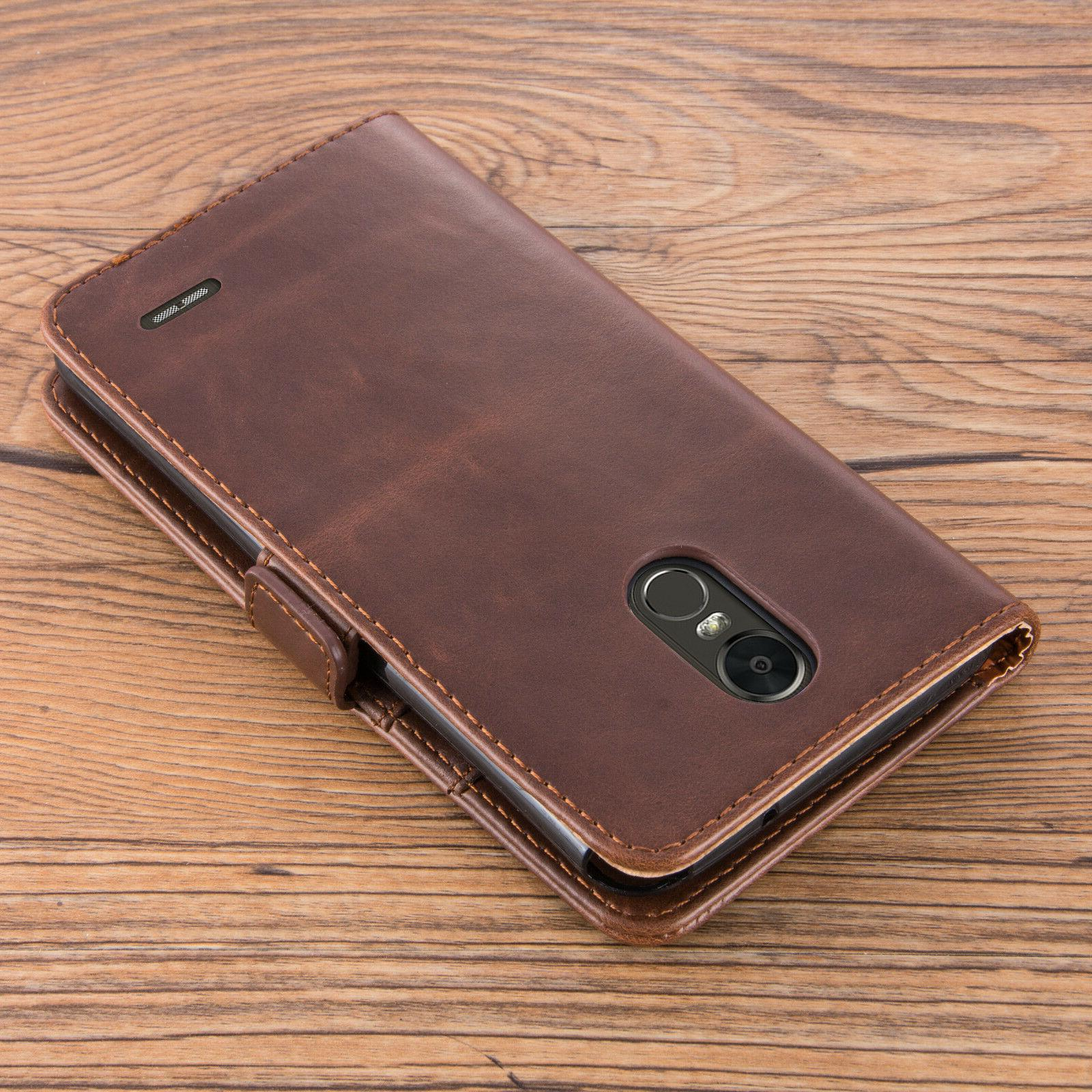 For 4 Leather Wallet Flip Case Cover Tempered