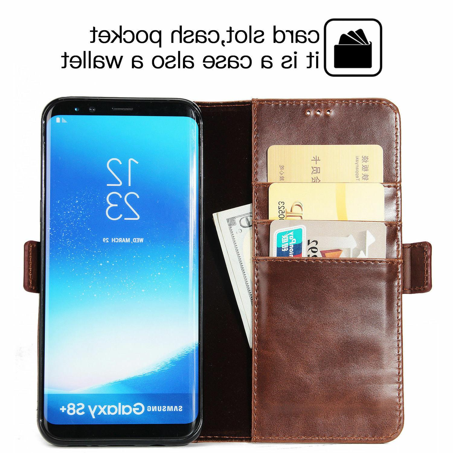 For Wallet Protective Case Cover Glass
