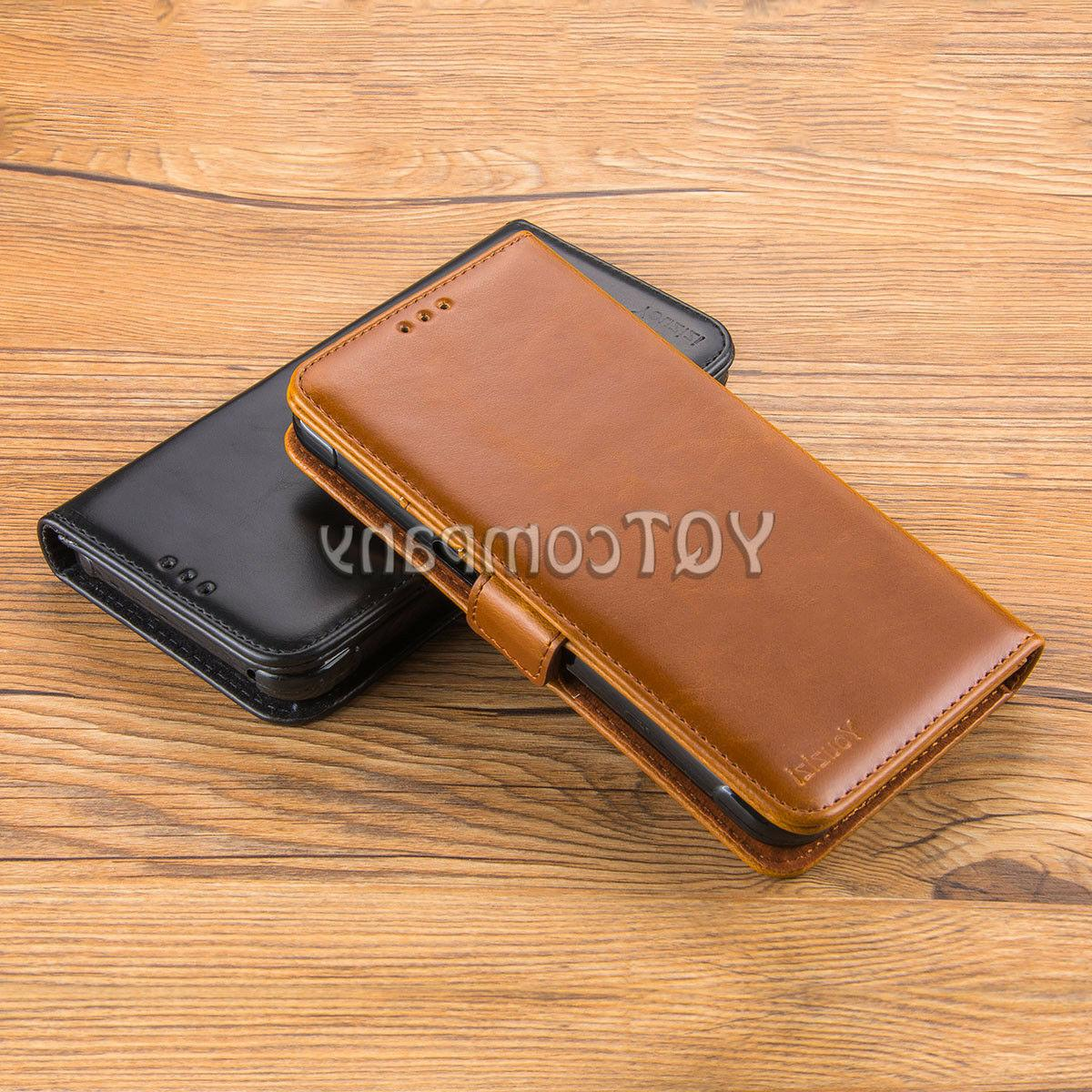 For Stylo 3 4 Wallet Cover Tempered Glass