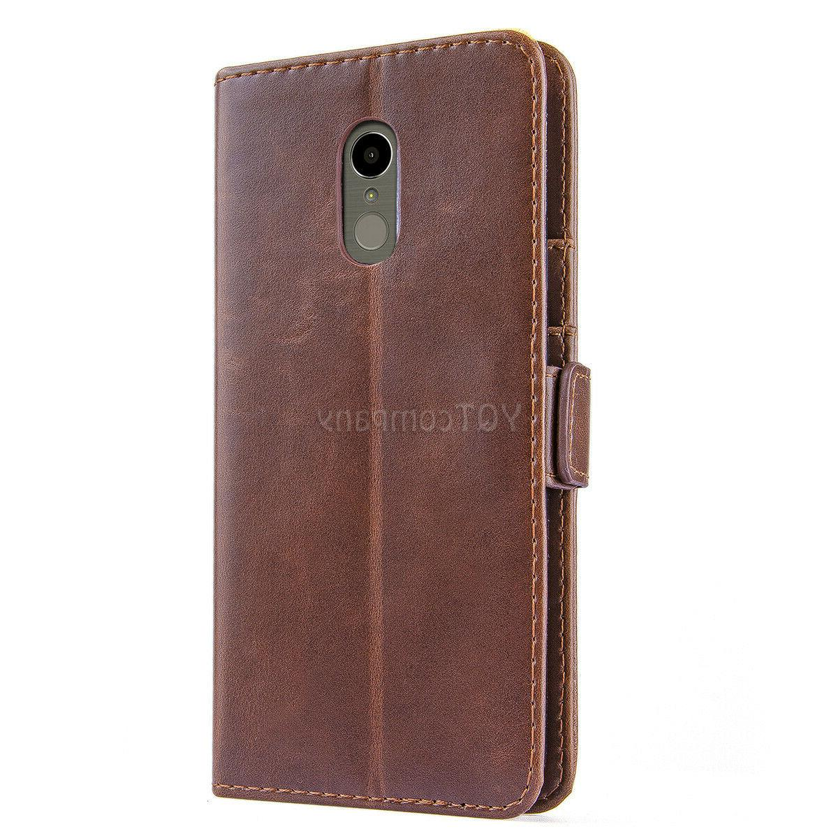 For LG Stylo 3 4 5 Wallet Flip Cover Tempered
