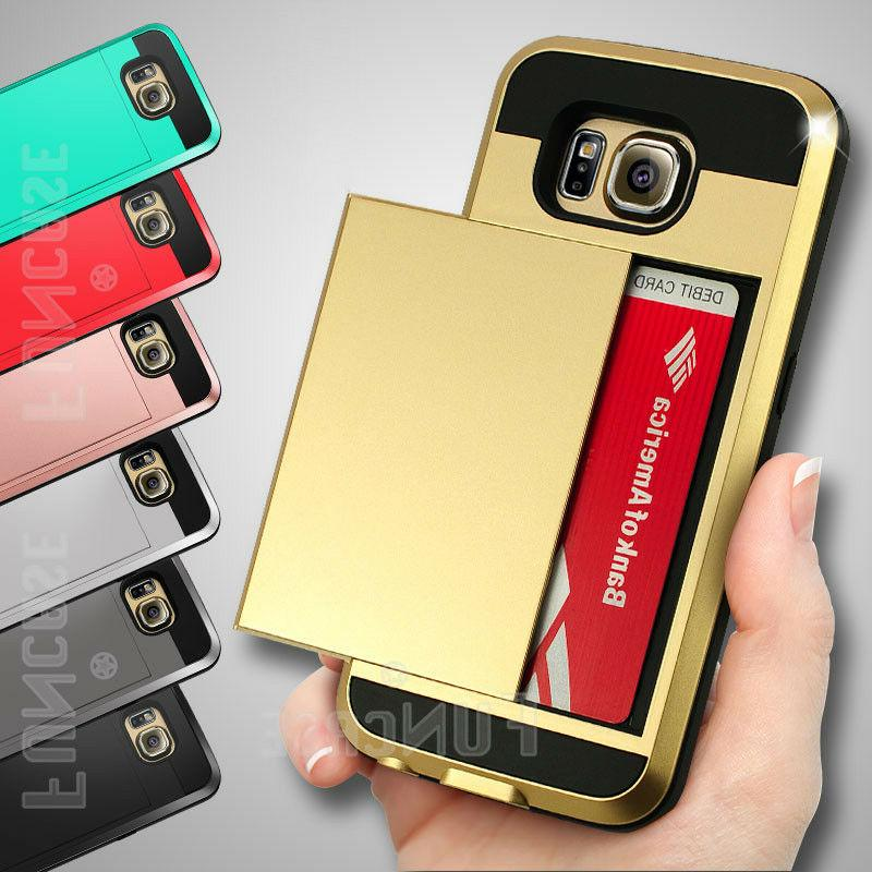 For Samsung Galaxy S6 edge Plus Wallet Cards Holder Pocket S