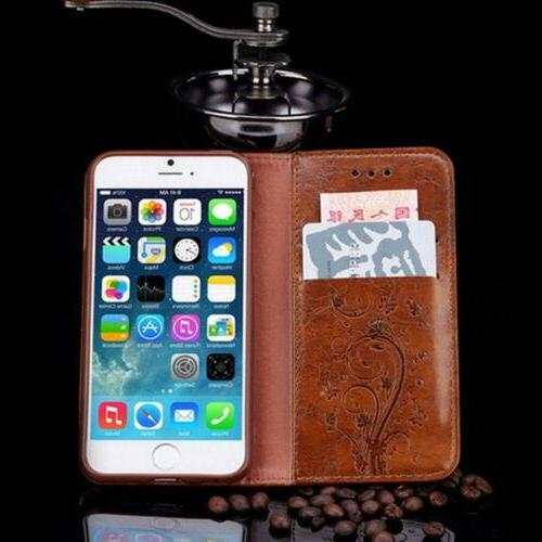 Luxury Leather Card Wallet Phone Stand 6 7 8 Plus X