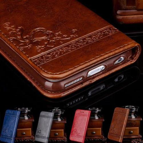Luxury Leather Flip Card Wallet Phone Case Cover Stand fo iP
