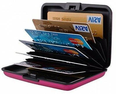 MaxGear Metal Credit Card Holder for Women RFID Credit Card