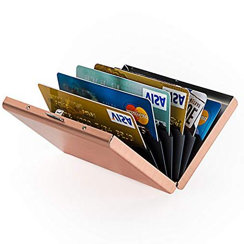 MaxGear Credit Card Card Wallet Steel Wallet Case Metal