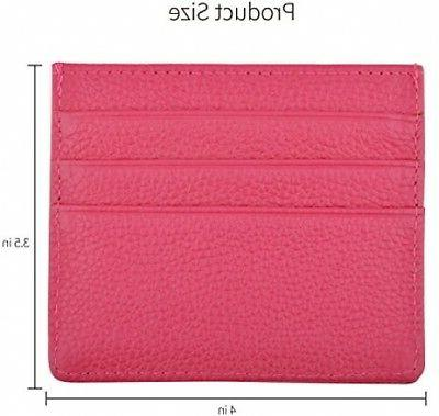 Wallet Women Leather Card Case With RFID
