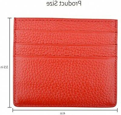 MaxGear Leather Credit Card Case Card Holder With ID Window