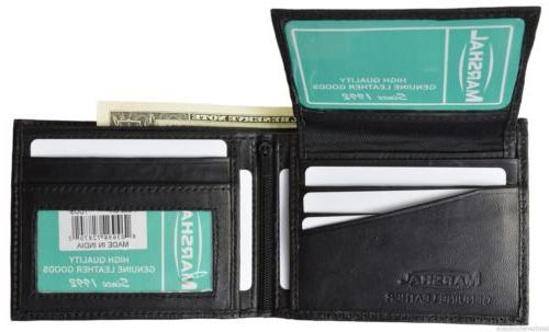 Men's Wallet Genuine Soft Lambskin Leather Removable 2 ID Ca