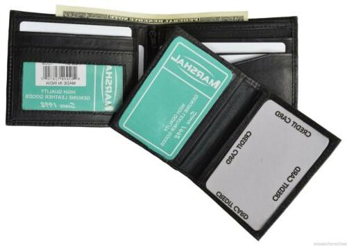 Men's Wallet Lambskin Leather Removable 2 ID Marshal®