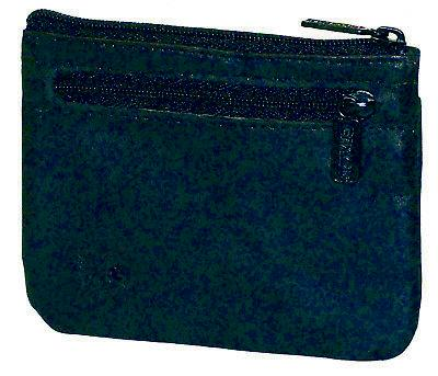 New Buxton Women's Leather Coin ID Card Case Wallet, Black