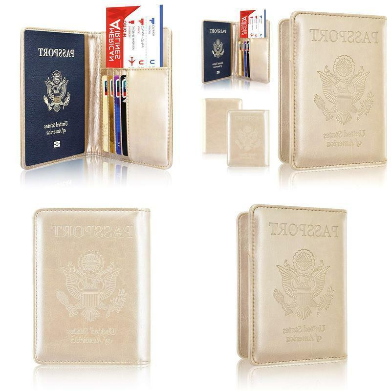 Passport Holder Case, Acdream Protective Premium Leather Wal