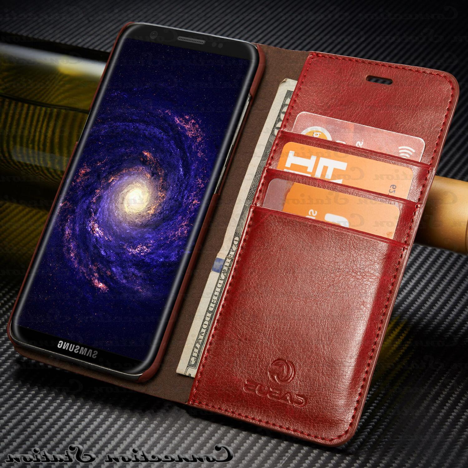 THIN Genuine Leather Wallet Card Case Cover Galaxy Plus