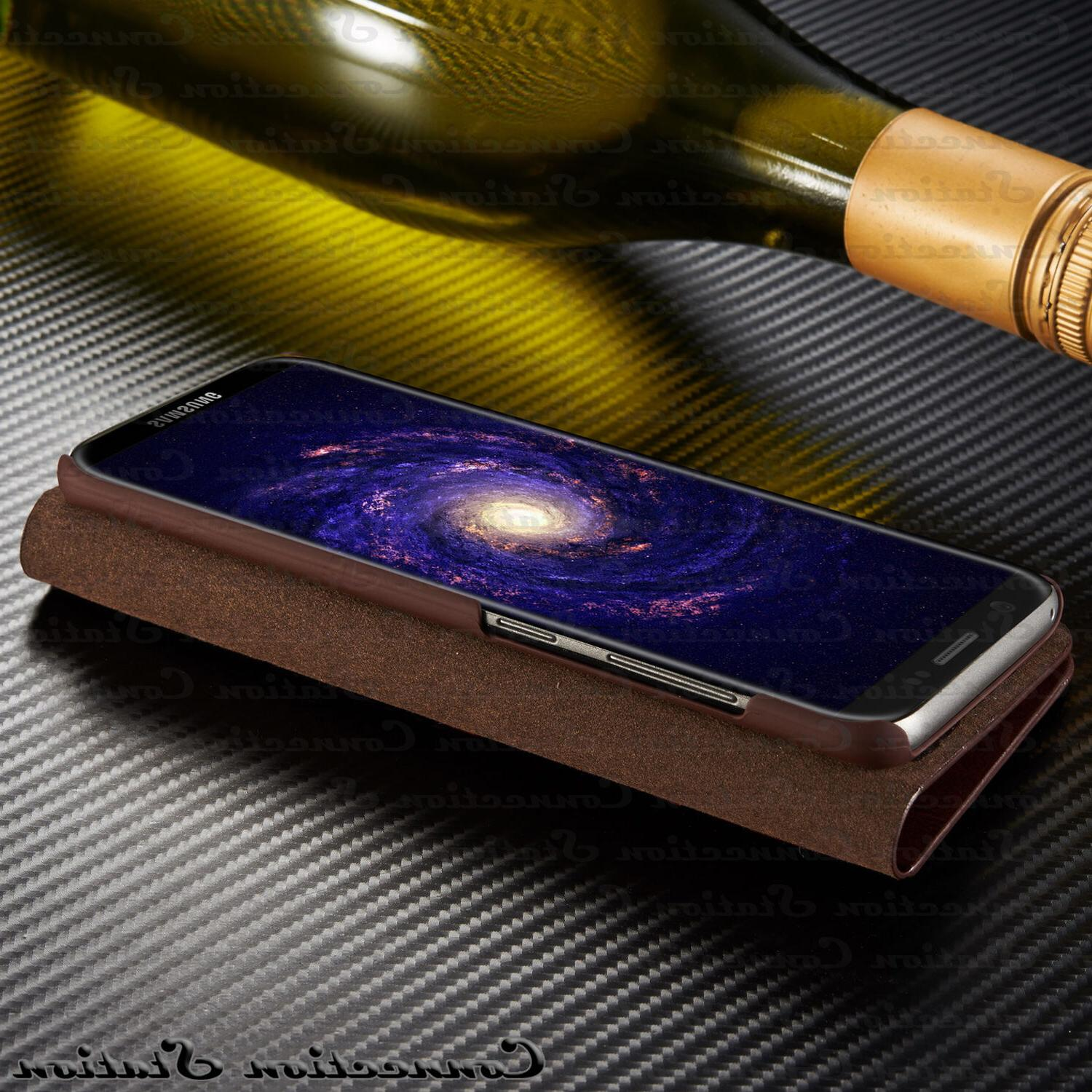 THIN Leather Wallet Card Cover For Galaxy Plus