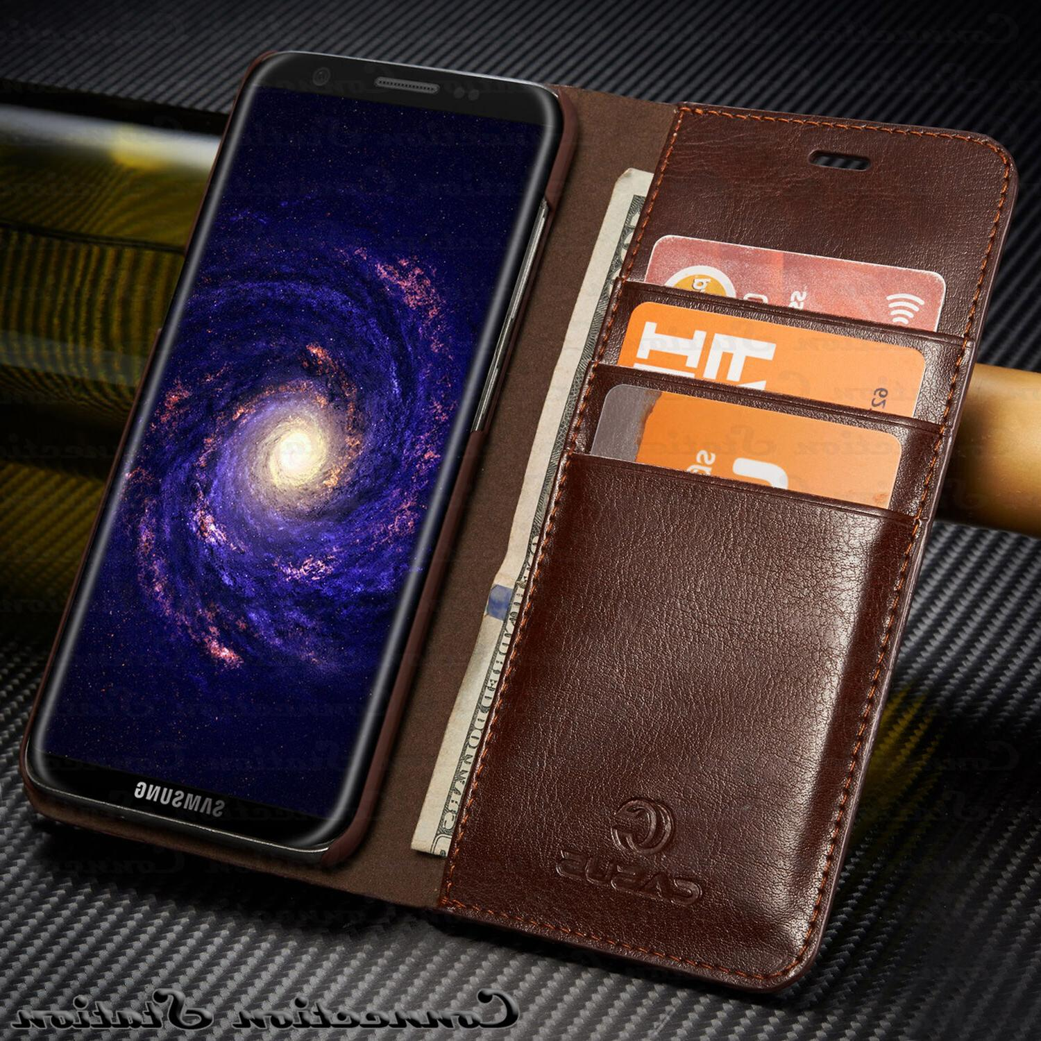 THIN Leather Wallet Card Case For Galaxy Note Plus