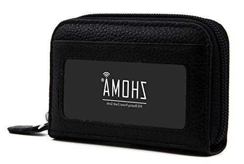 Zhoma Leather Credit Holder Security Travel