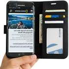 Abacus24-7 Black Flip Wallet Cover Case for Samsung Galaxy S