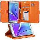 Abacus24-7 Wallet Case for Samsung Galaxy Note 5 - Orange