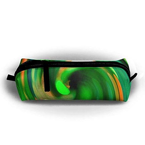 abstract spiral spin green oxford storage bags