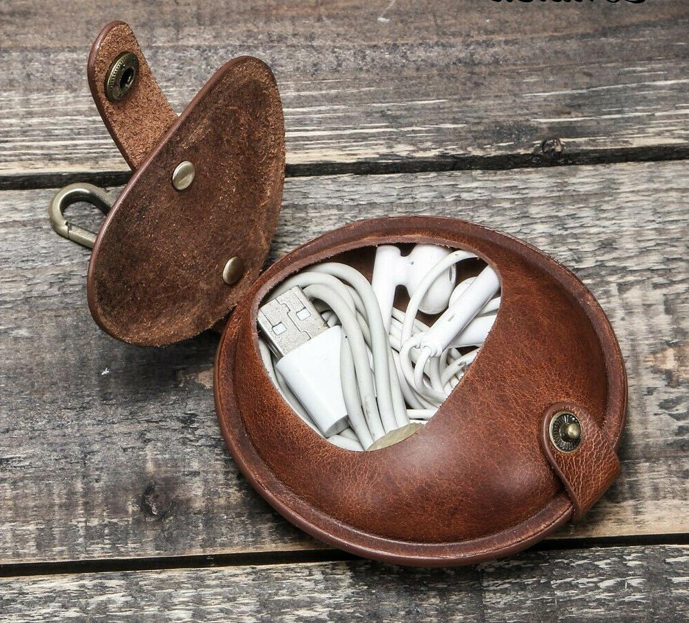 AirPods PRO Earphone Case Genuine Leather Coin Pouch Bag Ret