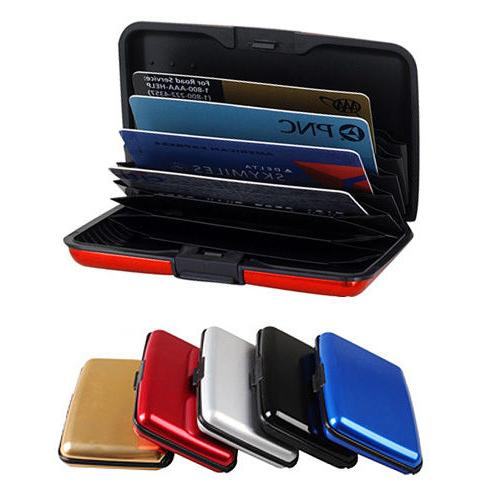 Aluminum Wallet RFID Pocket Water Resistant Business ID Cred