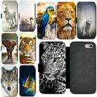 Animals Photo PU Leather Flip Wallet Phone Case Cover For iP