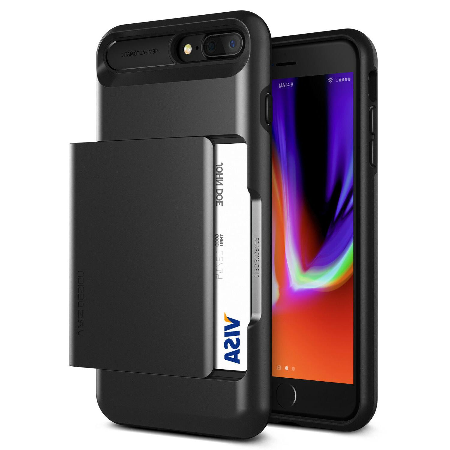 For Apple iPhone 8/8 Plus,7/7 Plus Case VRS® Slim Card Wall