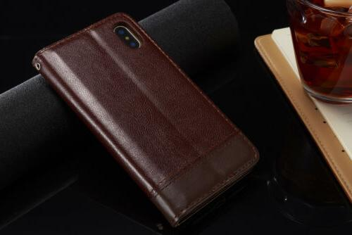 For X 8 7 Plus Leather Card Stand