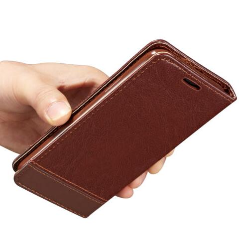 For iPhone XS X 8 6S Plus Leather Wallet Holder Flip Stand