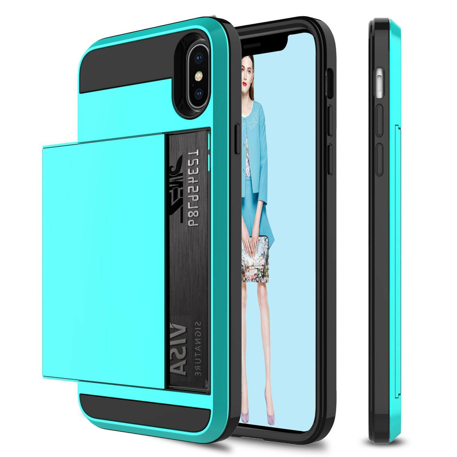 For 11 Max/XS Max/XR/X Shockproof With Credit Card Holder