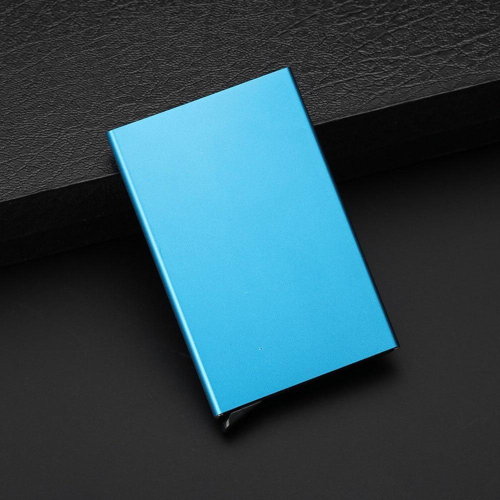 Automatic Credit Card Holder for Man Aluminum Up Card <font><b>Wallet</b></font> Metal Anti