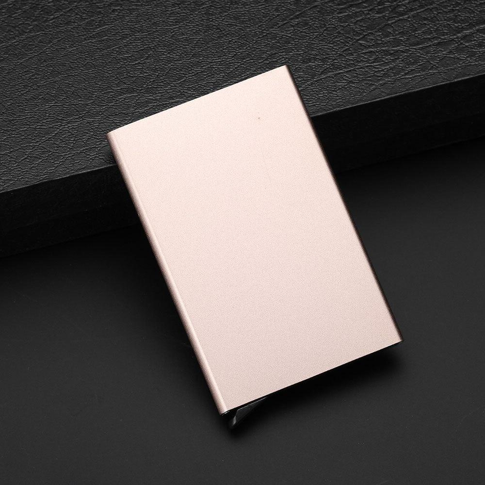 Automatic Credit Card Holder for Aluminum Pop Card Travel Metal Protection