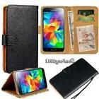 black flip cover stand wallet leather case